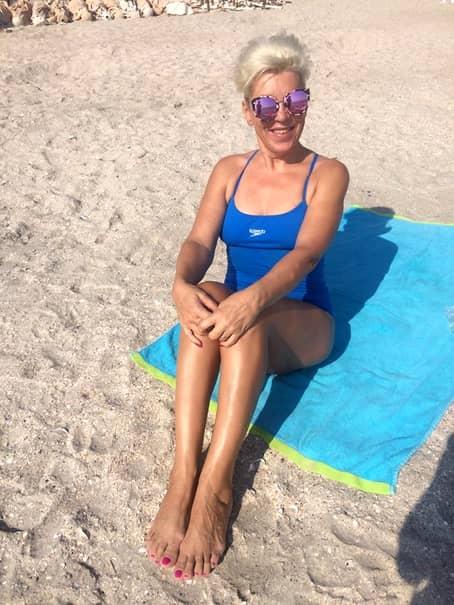 Silvia Dumitrescu, la 58 de ani, în costum de baie.