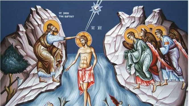 Calendar ortodox 6 ianuarie. Este prăznuit Botezul lui Isus Hristos sau Boboteaza