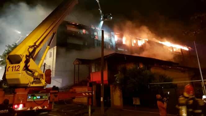 Incendiu în București: 54 de familii au rămas pe drumuri