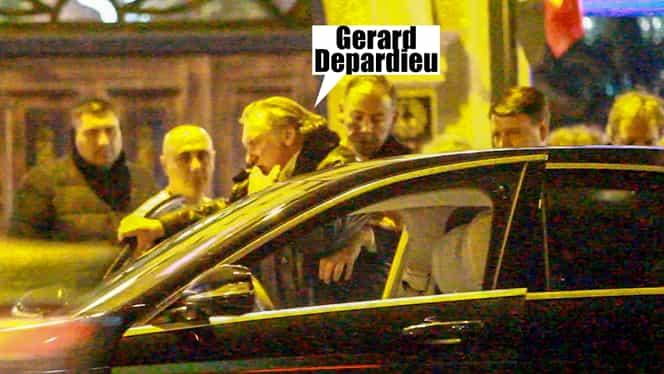 Gerard Depardieu, filmat beat în București! Video