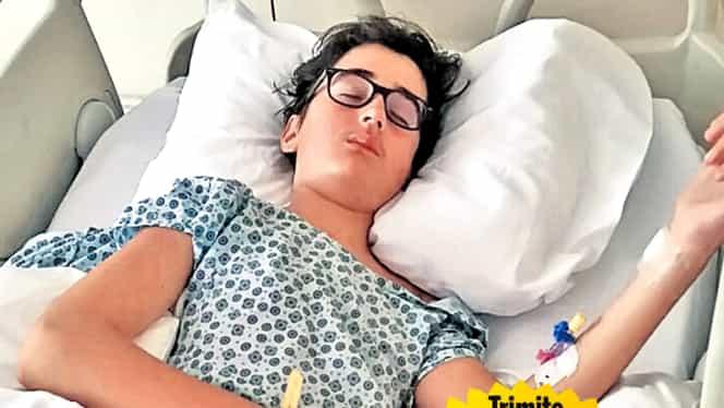 Un copil de 13 ani trăieşte un coşmar! Ajută-l pe Alex să trăiască! Becali l-a ajutat şi el!