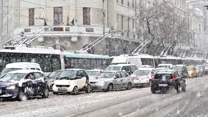 Avertizare meteo pentru Bucureşti! Un strat de zăpadă se va depune peste Capitală!