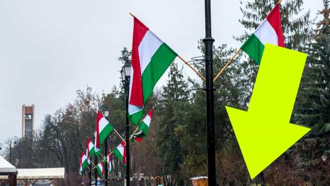Ce a făcut o româncă furioasă, sub drapelul maghiar arborat în centrul oraşului Sfântu Gheorghe