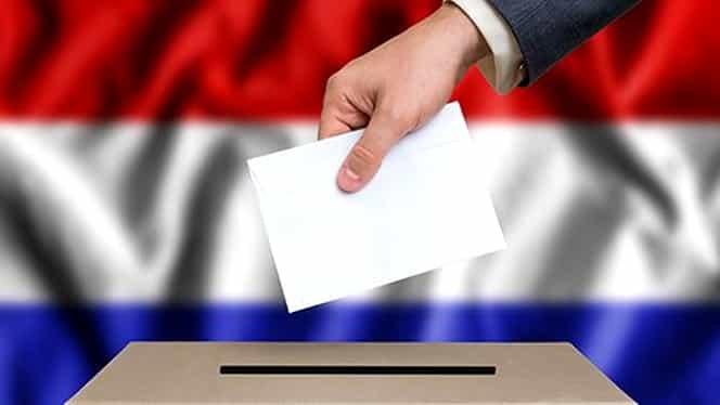 Urne improvizate în Olanda. Românii votează în tomberon, în turul 2 al alegerilor prezidențiale. FOTO