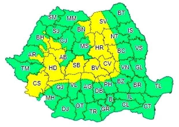 Alertă meteo ANM: cod galben de ninsoare, până pe 13 februarie! Care sunt zonele afectate