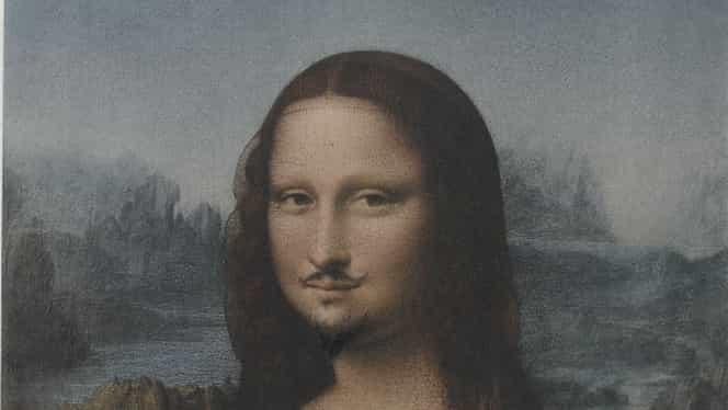 O replică a celebrului tablou Mona Lisa, vândută cu 750 de mii de dolari! Carismatica Mona Lisa are barbă şi mustaţă!
