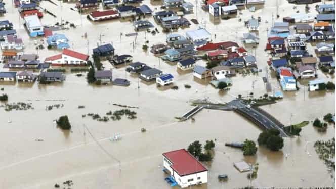 Dezastru în Japonia. Taifunul Hagibis a făcut prăpăd în 24 de ore. Au căzut chiar și 900 de litri pe metru pătrat
