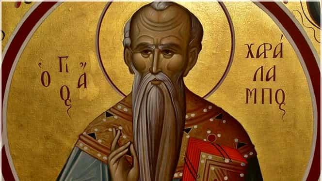 Rugăciunea către Sfântul Haralambie, protectorul de boli. Acesta e pomenit pe 10 februarie de Biserica Ortodoxă