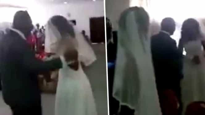 Amanta soțului a apărut la nuntă, îmbrăcată în mireasă! Cum a reacționat soția. VIDEO