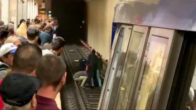Alertă la metrou – Un bărbat a încercat să se sinucidă la stația de metrou Unirii. VIDEO