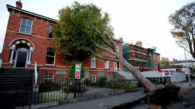 Furtuna Ophelia a ucis trei oameni în Irlanda! 120 de mii de case au rămas fără electricitate! GALERIE FOTO şi VIDEO
