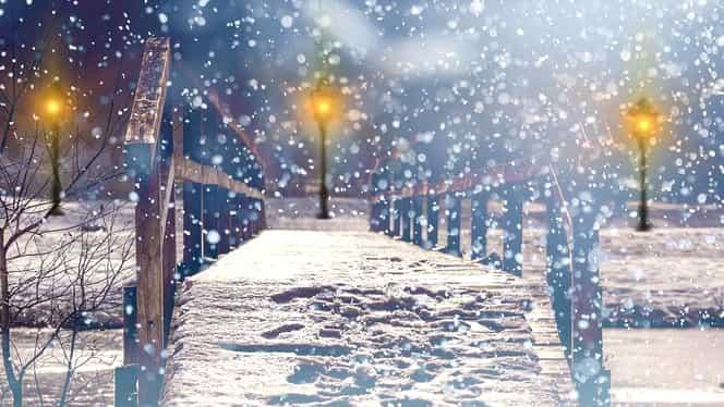 Meteorologii anunță ninsori. Din weekend vremea se încălzește din nou
