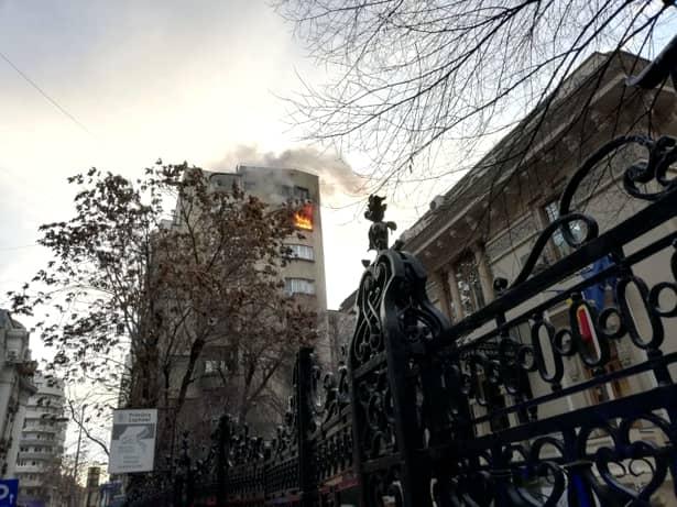 Incendiu în Capitală! Incendiu