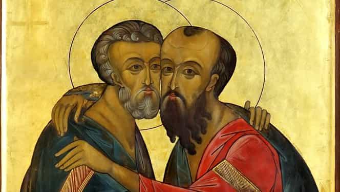 Rugăciunea către sfinții Petru și Pavel. Se spune în fiecare zi, de la începutul postului