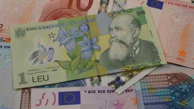 Curs valutar: Leul îşi arată colţii.Euro şi dolarul scad vertiginos