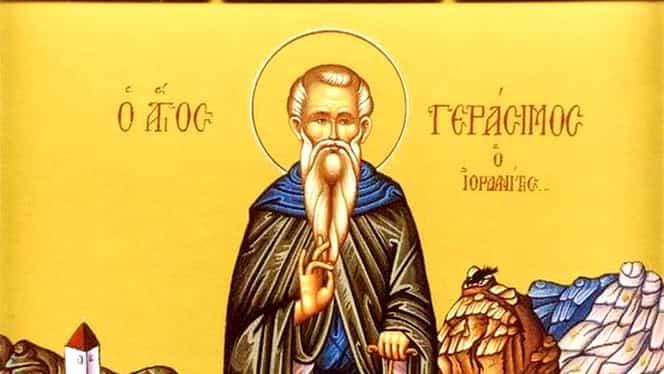 Calendar ortodox 4 februarie: Gherasim, cel de la Iordan
