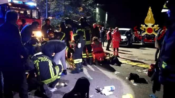 Tragedie într-un club din Italia! 6 persoane au murit şi peste 100 au fost rănite. Foto şi video