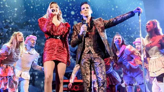 Alina Eremia, cu totul la vedere pe scenă, la Concertul de Crăciun al lui Ştefan Bănică Jr!