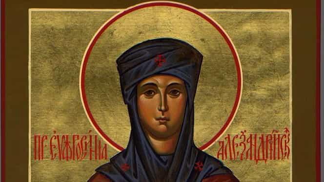 Calendar ortodox, 25 septembrie: pomenirea preacuvioasei Eufrosina