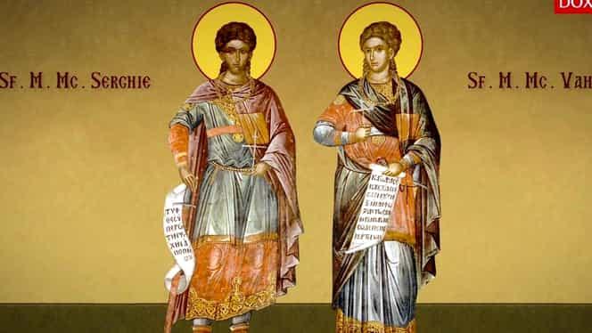 Calendar ortodox: luni, 7 octombrie 2019. Sfinții Mucenici Serghie și Vah, ocrotitorii Olteniei
