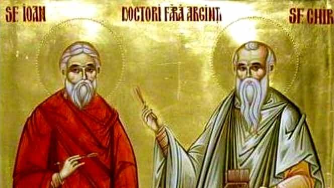 Calendar ortodox 31 ianuarie: Sfinții Chir și Ioan