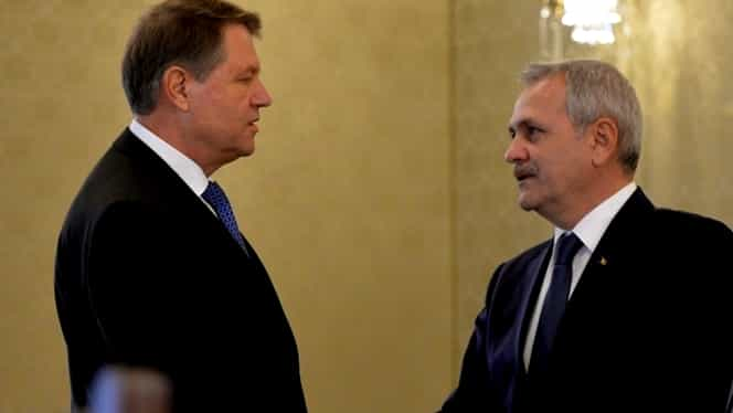 Cum a fost surprins Klaus Iohannis! Ce făcea președintele atunci când Liviu Dragnea îl ataca in direct. FOTO