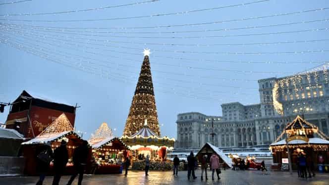 Restricții de circulație în Piața Constituției, pentru Târgul de Crăciun. Care sunt rutele ocolitoare
