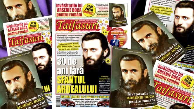 """Revista TAIFASURI face o mare surpriză cititorilor săi. """"Învățăturile părintelui Arsenie Boca"""" într-o carte-cadou de suflet și duhovnicie. GRATUITĂ! Numai 4 lei revistă+carte. Apare joi!"""