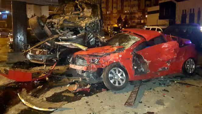Video. Accident groaznic în Constanţa. Din cauza vitezei o şoferiţă a distrus 10 maşini