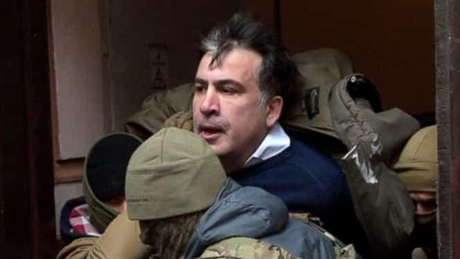 Video. Mihail Saakaşvili, arestat la Kiev de forţele speciale
