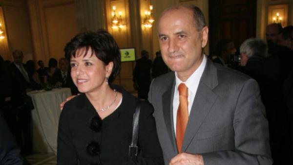George Copos alături de soţia sa, Cristina Copos