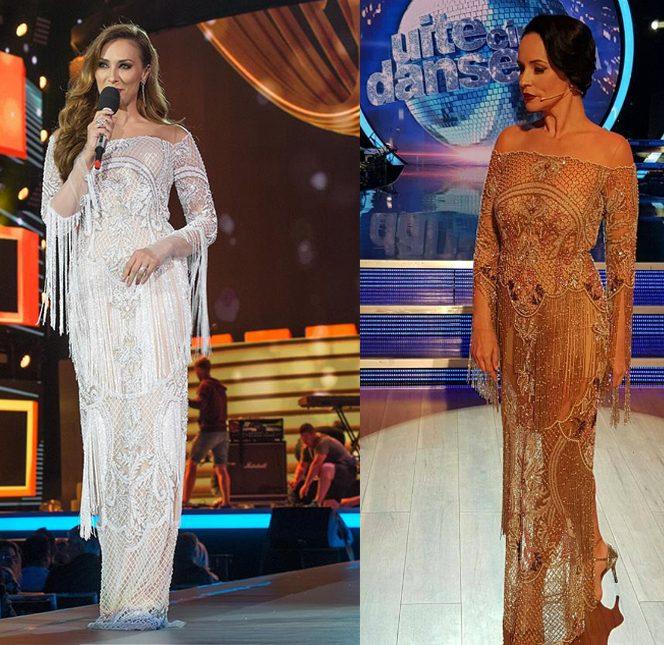Iulia Vântur a purtat o rochie identică celei pe care a îmbrăcat-o Andreea Marin la emisiunea de la Pro TV