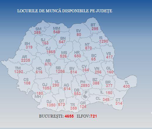 Sunt mai multe locuri de munca în romania din 25 septembrie