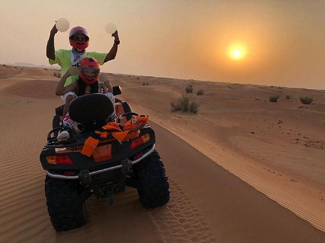 Nickie Minaj și Lewis Hamilton, apropiați în vacanța lor din Dubai