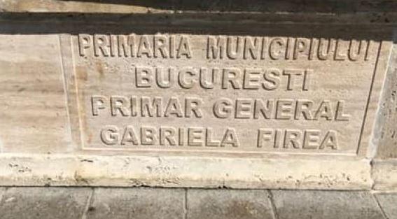Numele primarului general al Capitalei gravat pe fântânile reinaugurate