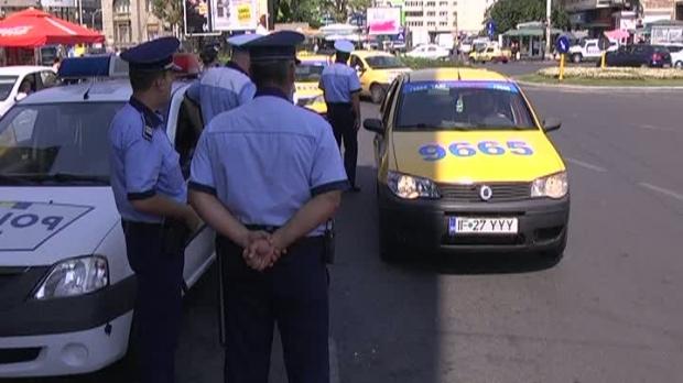 Polițiștii au verificat peste 110 mașini din regimul taxi