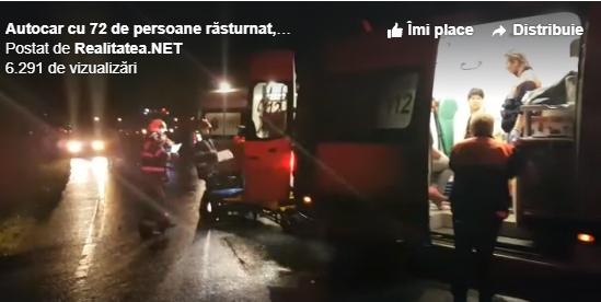 Accidentul s-a produs în județul Hunedoara. Oamenii se întorceau din Spania
