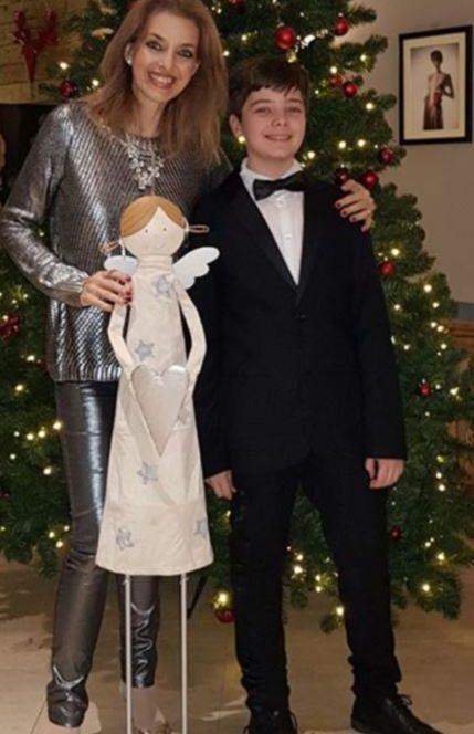 Bianca Brad alături de fiul său, Luca Frățilă