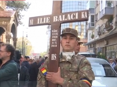 ce scrie pe crucea lui Ilie Balaci