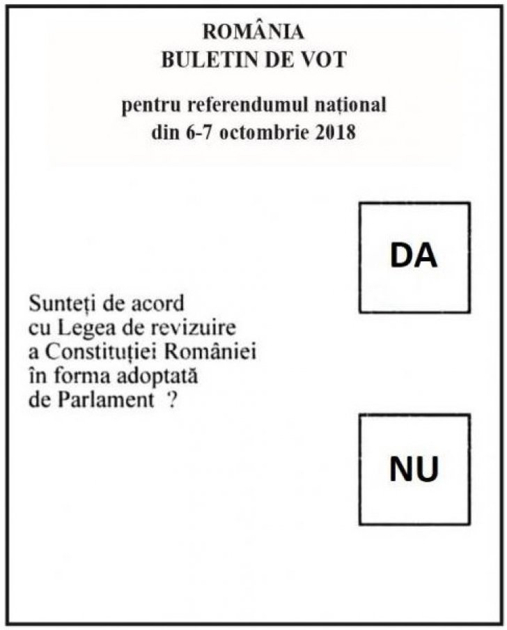 Pe buletinul de vot de la referendumul pentru familie va fi trecută întrebarea și variantele de răspuns
