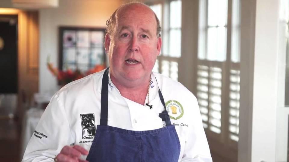 Chef Dean Corbett, în bucătărie, acolo unde îi plăcea să petreacă cea mai mare parte a timpului