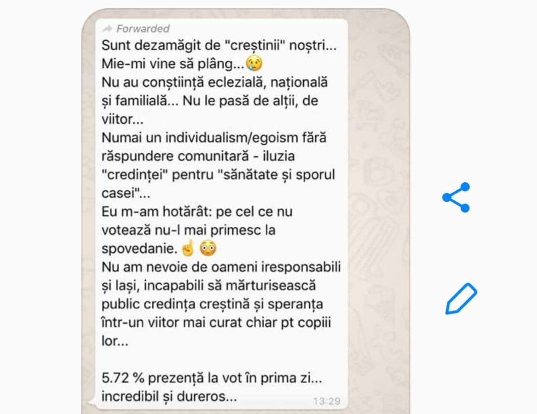 Magda Vasiliu a publicat mesajul unui preot din italia pe care șl-a lăsat pentru enoriasi după referendum