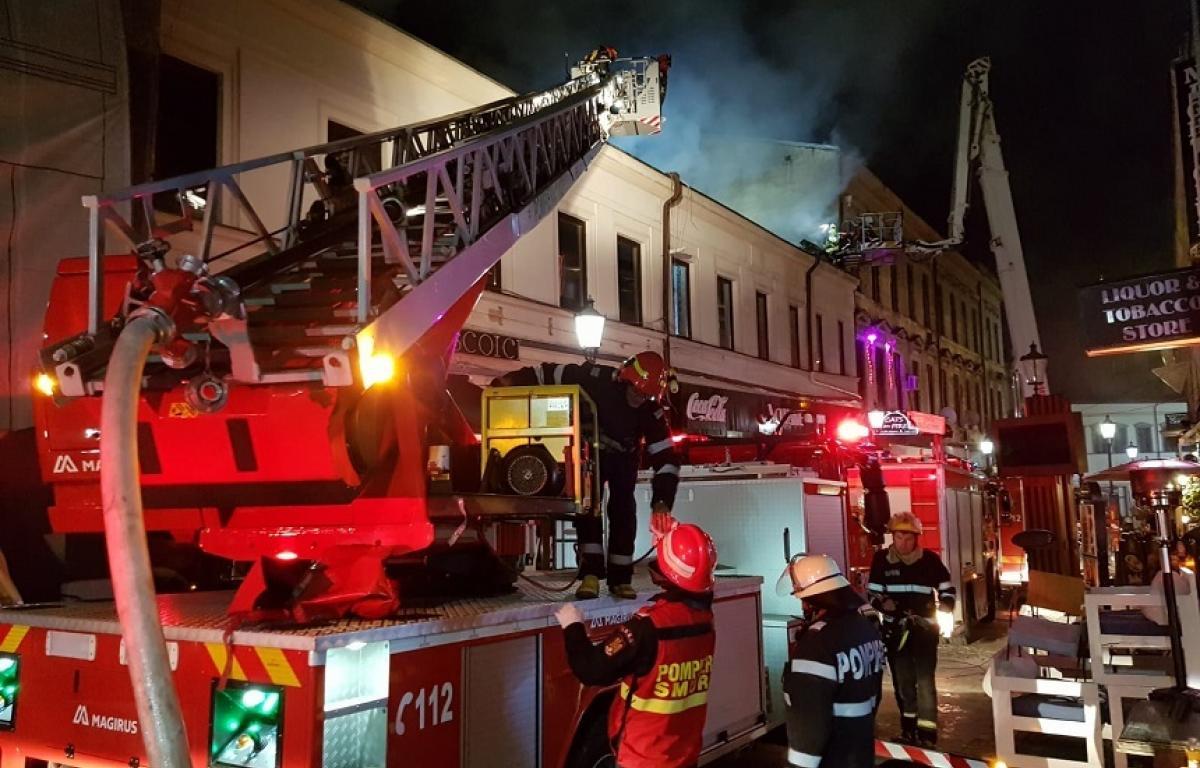 În centrul vechi al capitalei a avut loc un incendiu