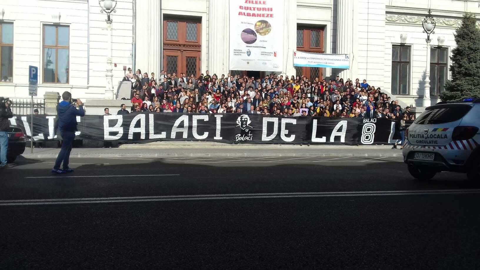 Banner-ul fanilor de la înrmormântarea lui Ilie Balaci
