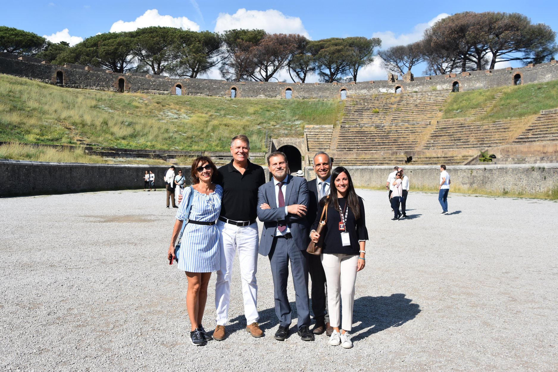 Klaus Iohannis și Carmen au vizitat pompeii