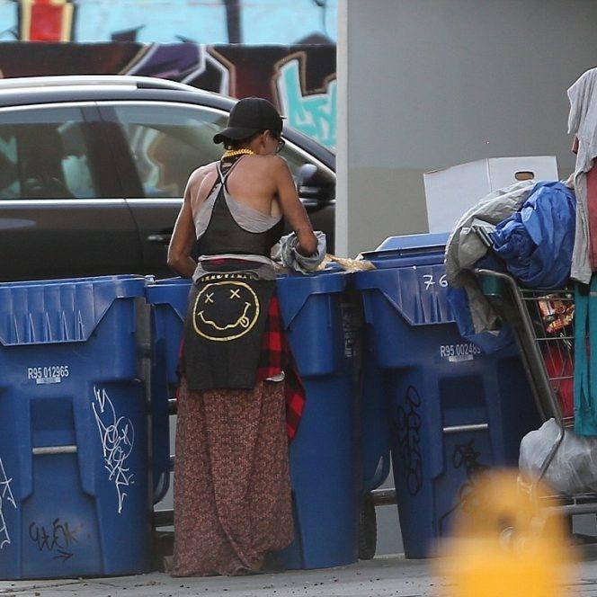 Lonni Willison, frumoasa de la Hollywood, cătând printre gunoaie