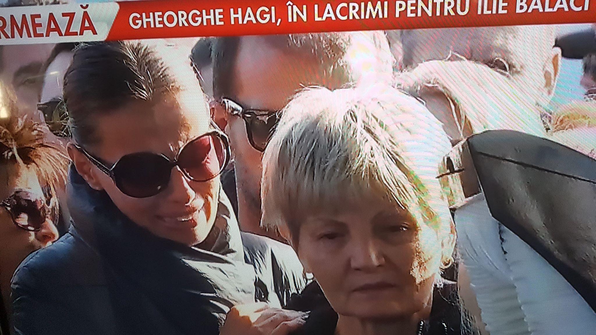 Fiicele și soția lui Ilie Balaci în hohote de plâns la sicriul său