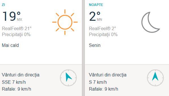 Brașovenii au parte și ei de temperaturi călduroase pentru ziua de vineri, 5 octombrie