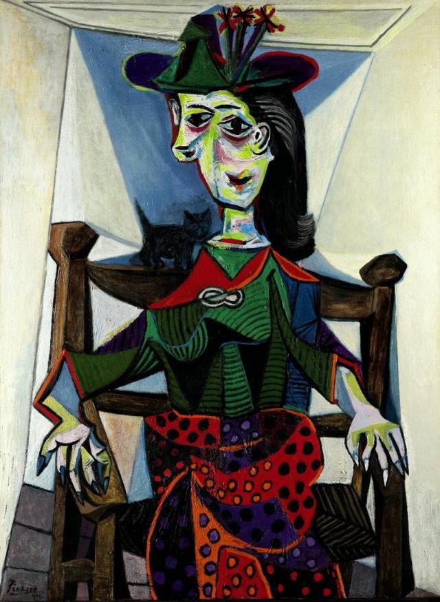 """Pablo Picasso - """"Dora Maar cu pisica"""", 95.216.000 de dolari"""
