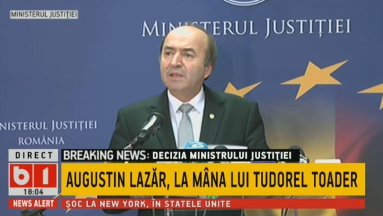 Augustin Lazăr, revocare